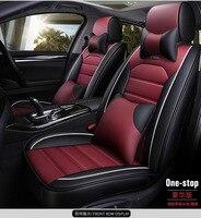 pu leather linen car seat cover for hyundai solaris getz Elantra Tucson veloster creta i20 i30 ix35 i40 Car accessories