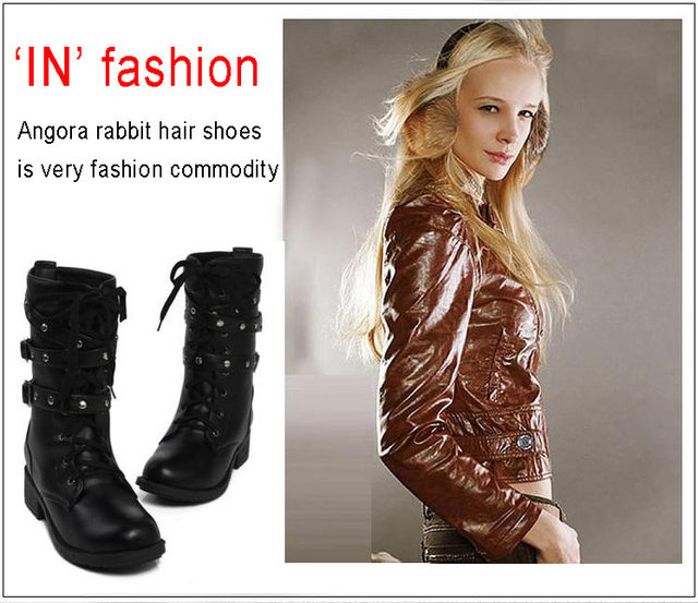 2019 New Buckle Winter Motorcycle Boots Women British Style Ankle Boots Gothic Punk Low Heel ankle Boot Women Shoe Plus Size 43 14