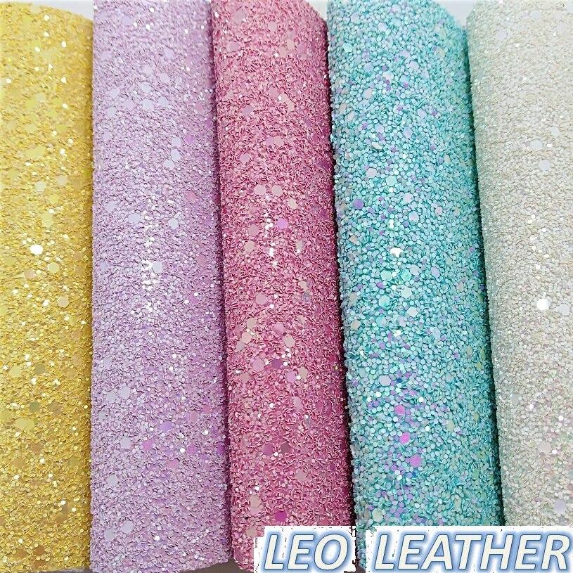 1 YARD Paillettes PU Cuir Paillettes Tissu, Tissu En Cuir Synthétique, En Simili Cuir pour Accessoires DE BRICOLAGE P599