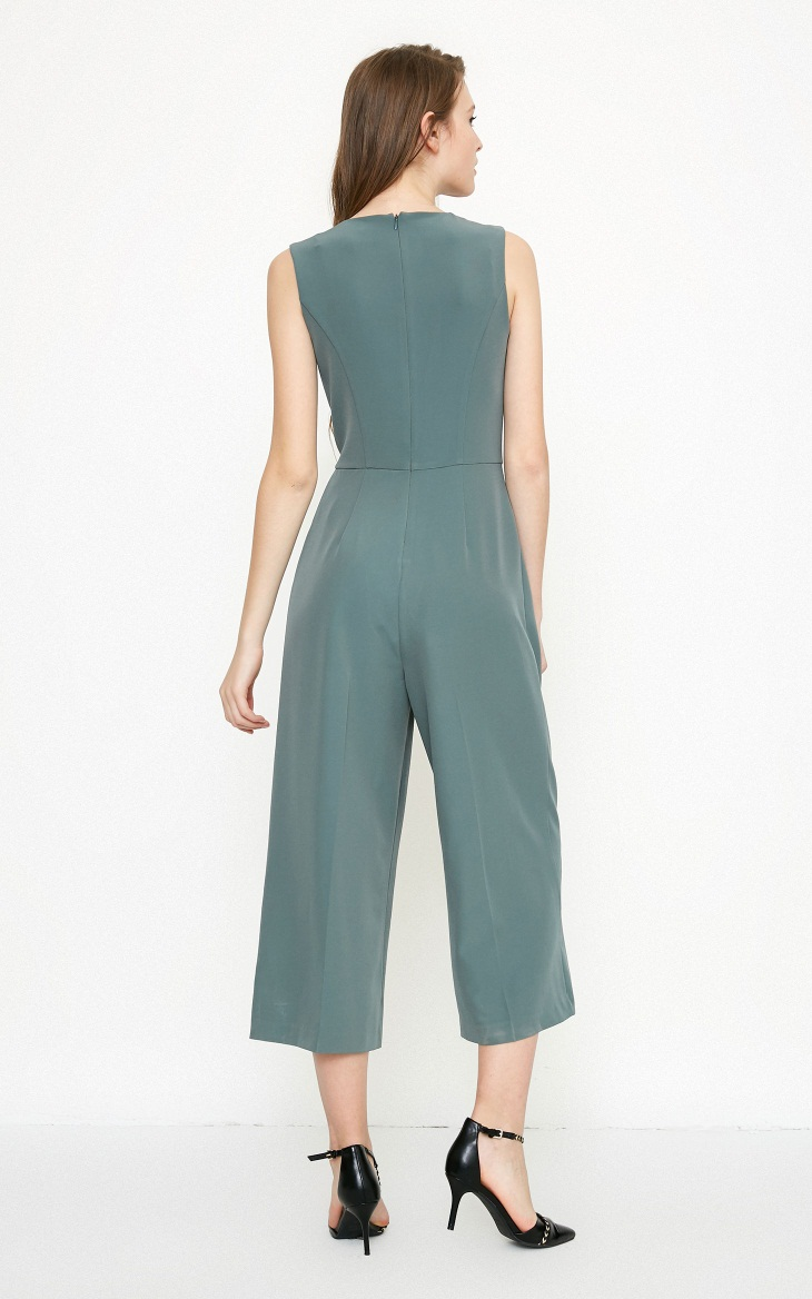Vero Moda spring fashionable V-collar loose-leg cropped Jumpsuits for women |318144507 14