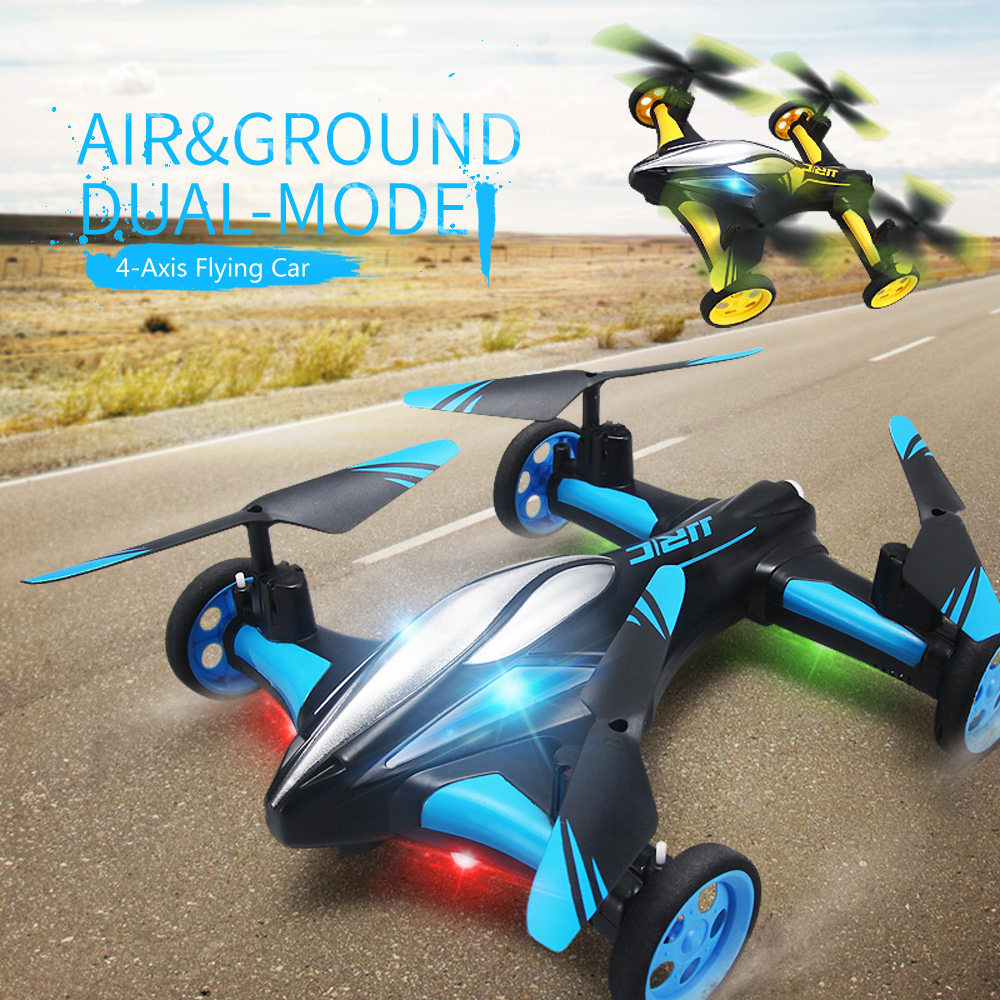 JJRC H23 2.4G 4CH 6 Axis Gyro RC Quadcopter with Wheels Land / Sky 2 in 1 RC Drone Mini Helicopter For Gift in stock original jjrc h8c 4ch rc quadcopter with 2mp camera 2 4ghz with more batteries free shipping