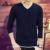 Hombres de Punto Suéteres Casuales Para Hombre Con Cuello En V de Punto sólido Suéter Caliente Masculino Sueter Tire Homme Camiseta Masculina Delgada Polo Suéter