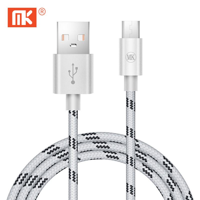 MK Micro USB Cable for Android Data Fast Charger Cable to Micro USB 2.4A 1M Mobile Phone Cable For Samsung Xiaomi SONY Android