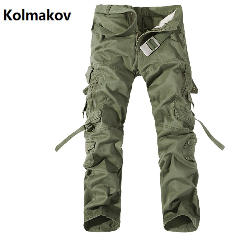 KOLMAKOV 2017 new style pants mens casual fashion trousers , mens high quality jeans men cargo pants big size 28-42 ...