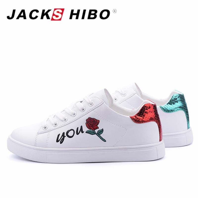 JACKSHIBO Design Rose Blumenmuster Flache Schuhe Frauen Rot und Grün - Damenschuhe - Foto 2