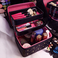 Women casual Folding Layers Professional Makeup Bag High Quality Lovely Cosmetic Box Travel Storage Case Large Capacity Suitcase