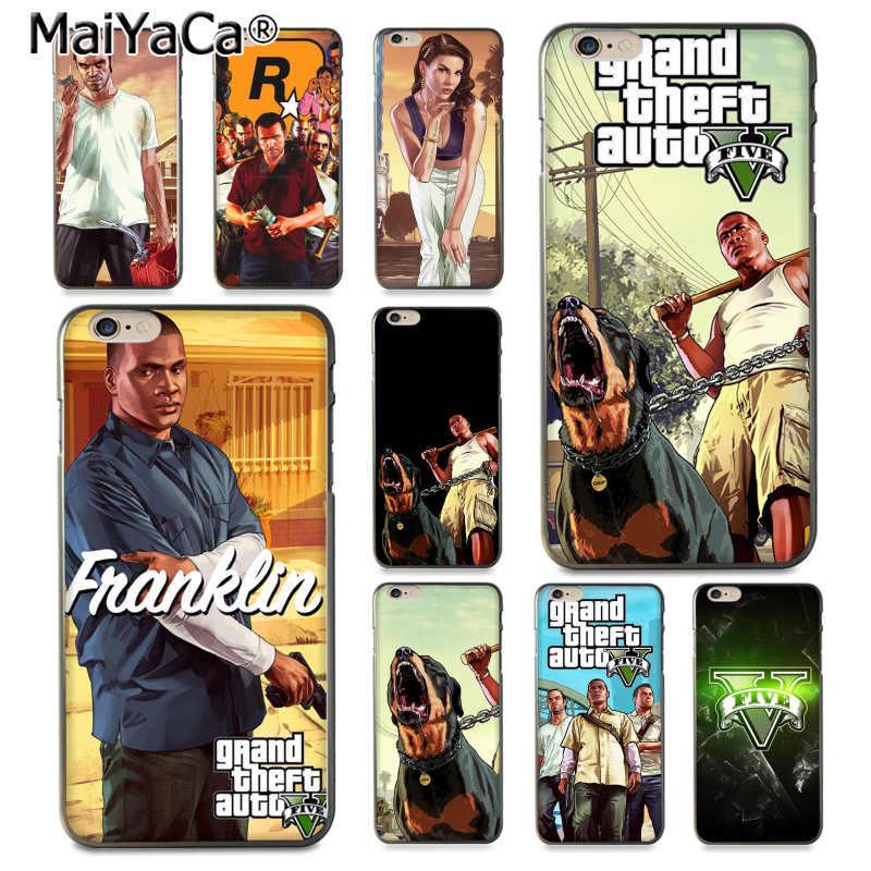 MaiYaCa Grand Theft Auto V gta 5 Luxury Hybrid soft สำหรับ iPhone 8 7 6 6 S Plus X XS XR XSMax 5 5 S SE Coque Shell