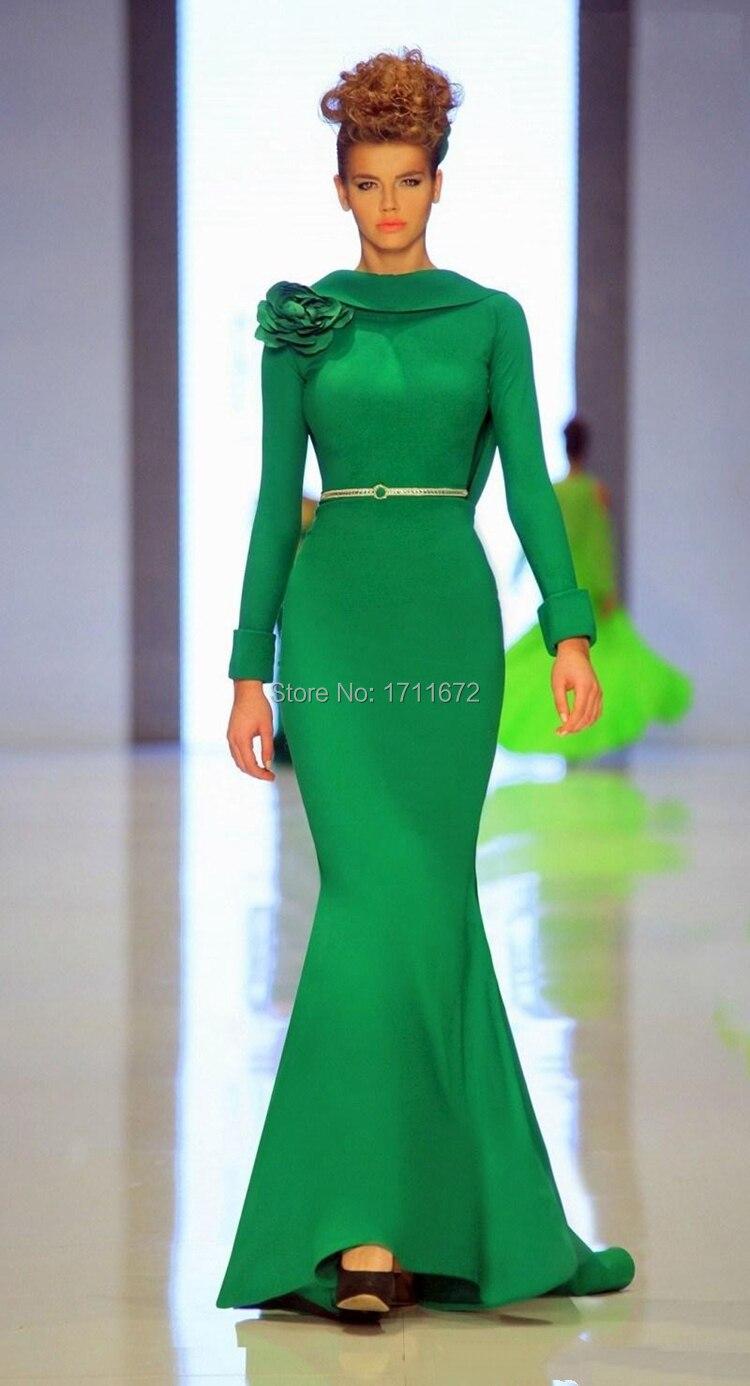 Emerald Green Dresses Elegant Backless Mermaid Formal