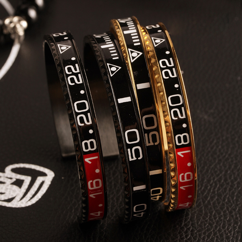 Louleur 18 Italian Style New 316L Stainless Steel Cuff Bracelet Bangle Men Women Speedometer Bracelet Open Bangles Jewelry 3