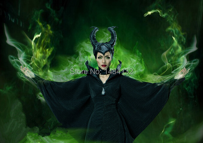 Latest Factory Sales Angelina Jolie Evil Queen Maleficent Cosplay Costume Halloween Cosplay Maleficent Costumes For women