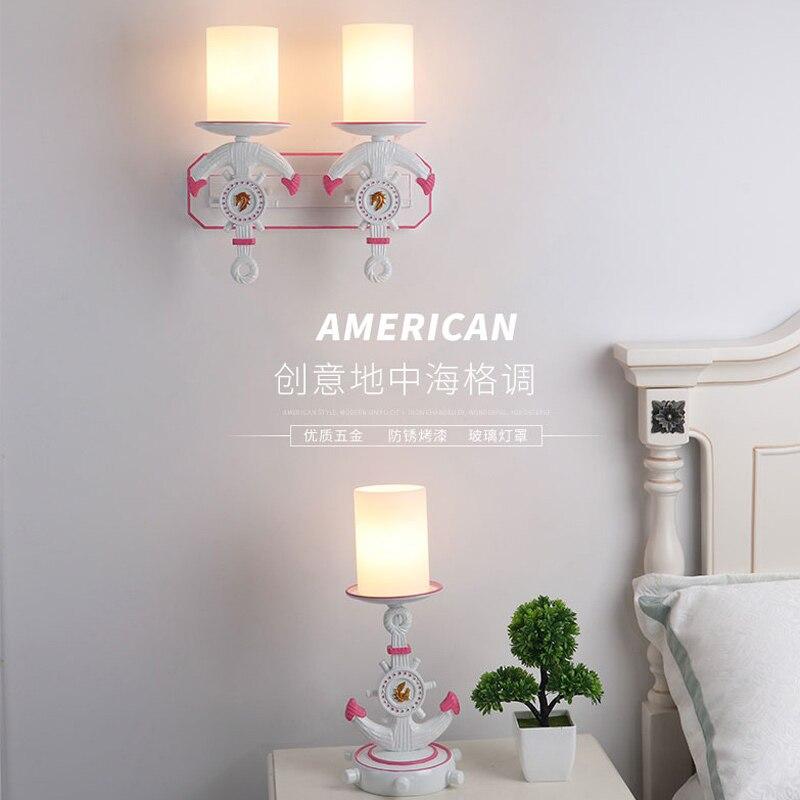 Детская комната стены прохода лобби искусства столовой Спальня прикроватный светильник Настенный светильник лампа