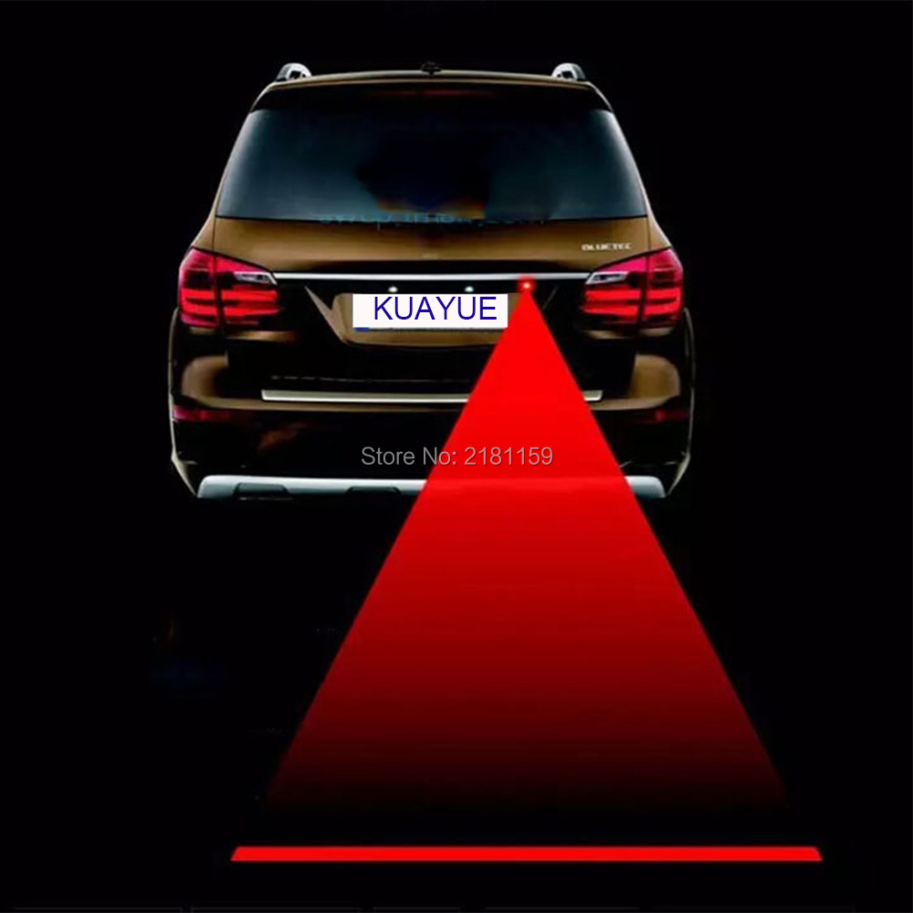 1set Laser lamps car led after rain anti-fog anti collision laser fog external lights styling Auto rear bulbs