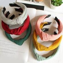 Однотонная цветная повязка на голову для женщин, Корейская Мягкая замшевая завязанная повязка на волосы, весна-лето, ручная работа, бант, обруч для волос, аксессуары для волос