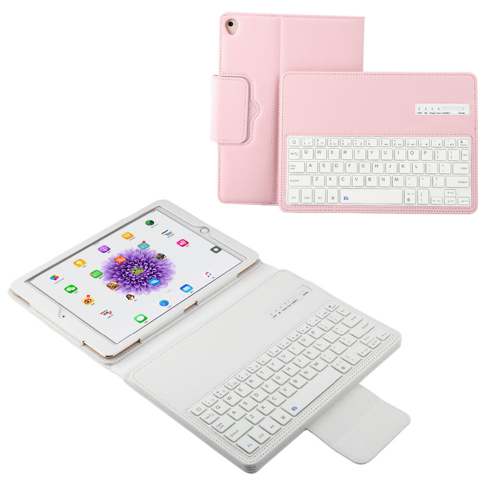 Russian/Hebrew/Spanish Detachable Wireless Bluetooth Keyboard Stand Leather Funda Cover Case For Apple iPad 9.7 2018 2017 Tablet 2015 new detachable wireless bluetooth keyboard pu leather case stand cover for apple ipad pro 12 9 tablet shell