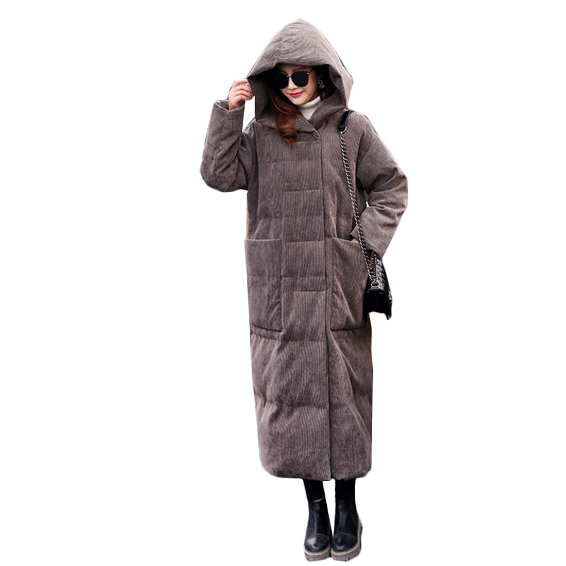 Down   jacket female 2018 fashion winter jacket women   down     coat   ladies hooded long overcoat thicken warm   coat   womens   down   jacket