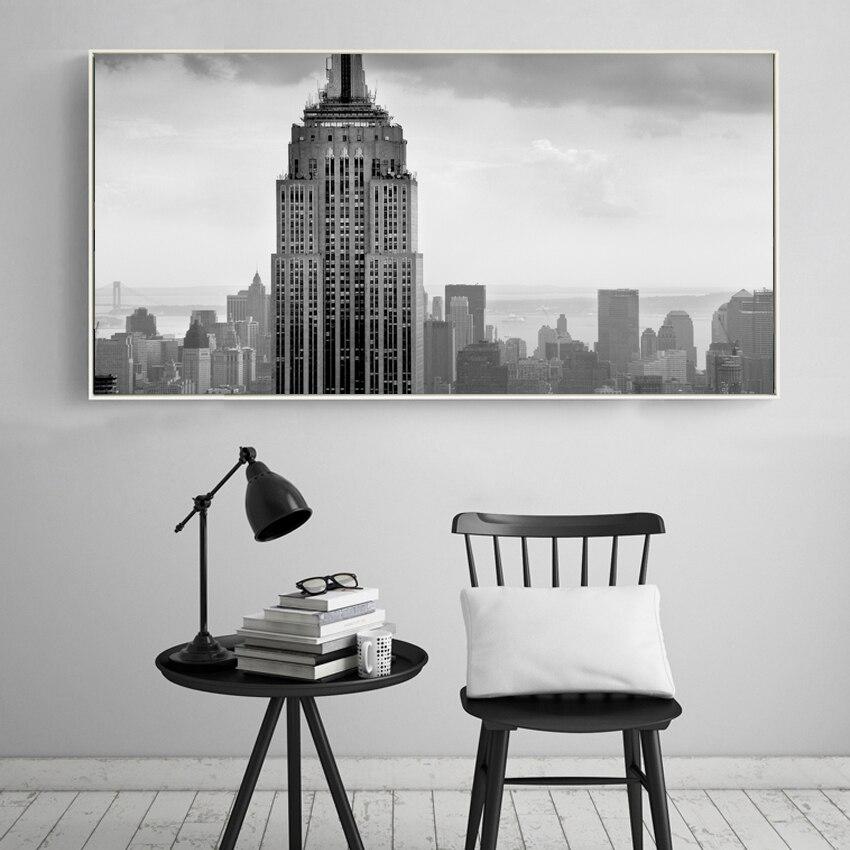 Moderní USA Empire State Building New York obrázky plátno umění Domácí výzdoba Nástěnné malby Umělecké plátno Tiskne do obývacího pokoje