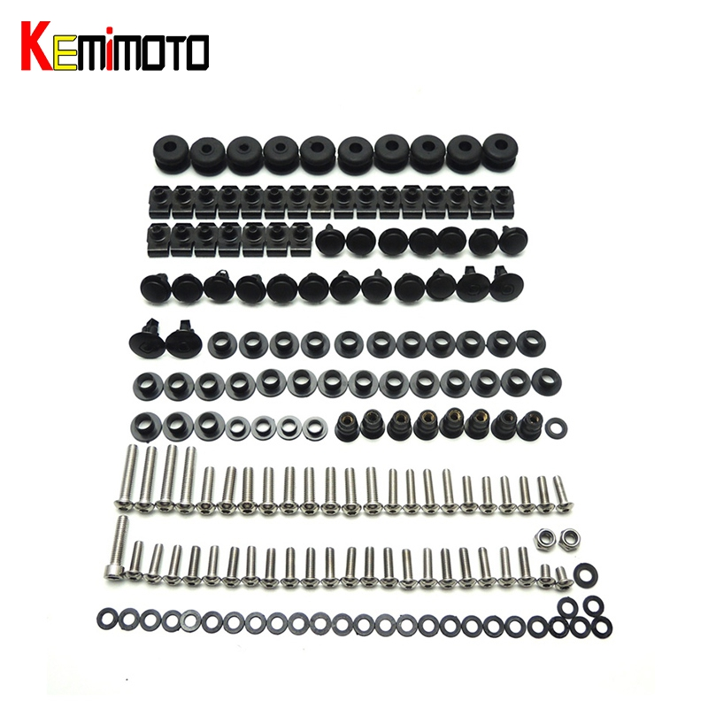 For Yamaha 2006 2007 YZF R6 Motorcycle Complete Set of Fairing Bolts Bolt Screws Kit Body Screws For Yamaha YZF-R6 2006 2007 R6 a set of motorcycle accessories custom fairing screw bolt windscreen screws for yamaha yzf r125 yzf r15 yzfr15 yzf r25 yzf r3