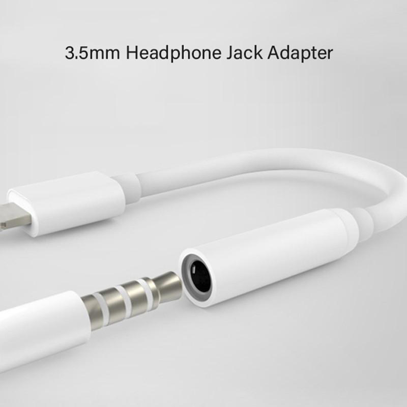 Earphone Headphone Jack Adapter Lighting to 3.5mm Audio Aux Cable Earphones Converter Adapter Support iOS 12 for iP X 7 8 Plus