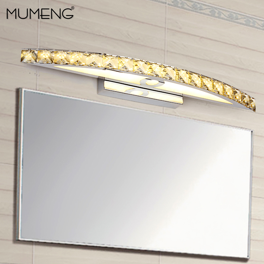 mumeng LED Bathroom Wall Lamp 15W Mirror Cabinet wandlamp Modern Wall Sconces 110V 220V Bedroom Living room aisle Light Fixture modern minimalist waterproof antifog aluminum acryl long led mirror light for bathroom cabinet aisle wall lamp 35 48 61cm 1134