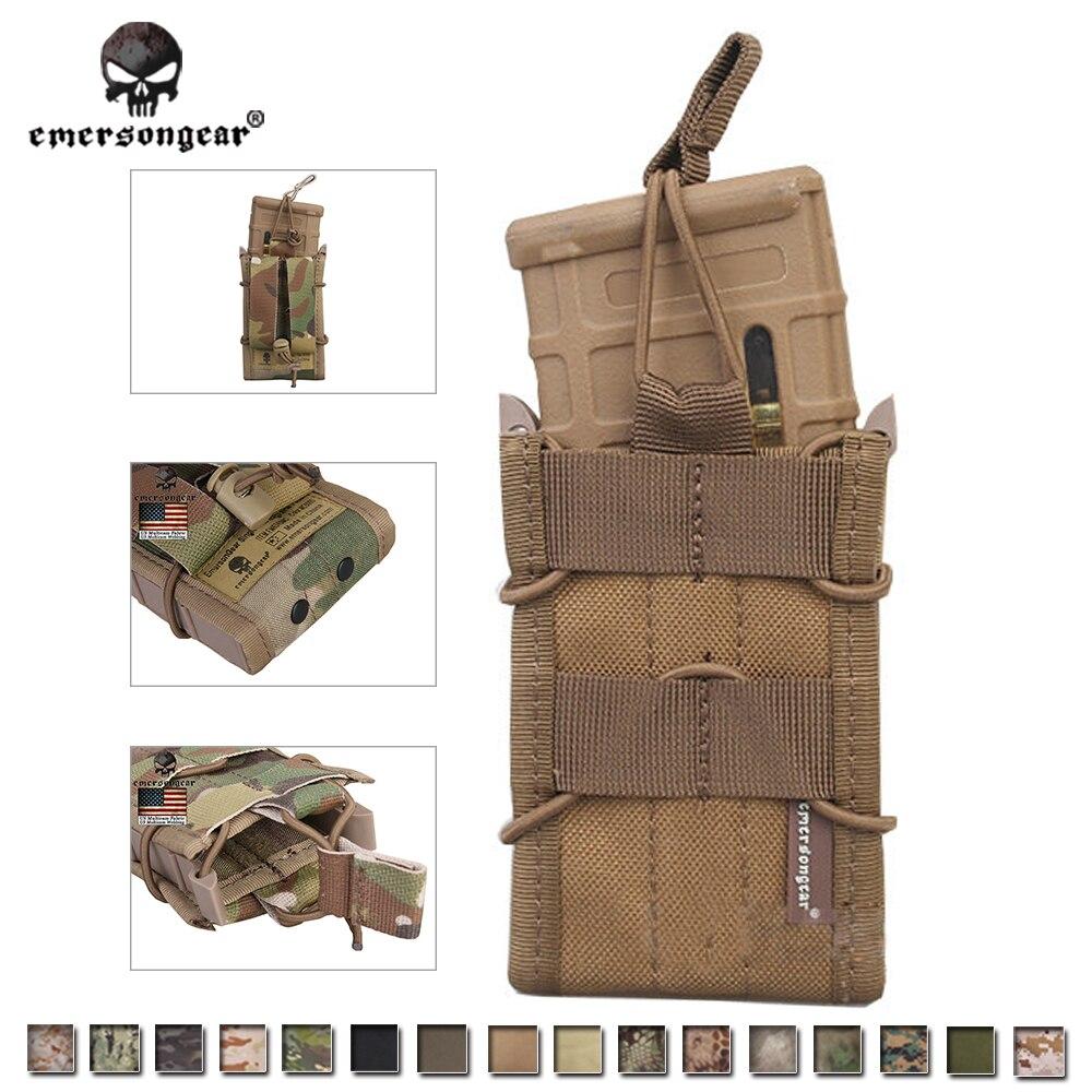 Prix pour Emersongear Seule Unité Magazine Pouch Militaire Utilitaire de L'armée MOLLE Vertical Accessoires Multicam EM6345 pour M4/M14/AK/G3/G36