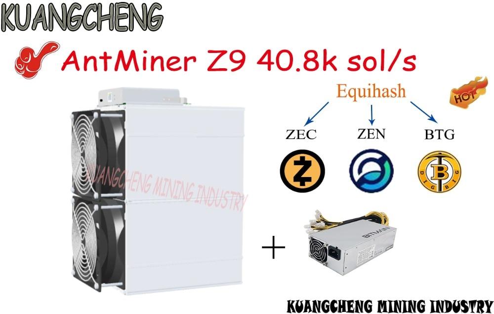 O velho 90% novos mineiros ASIC AntMiner mineiro Z9 40.8 k sol/s 1150 W com APW3 ++ PSU máquina de Mineração Equihash