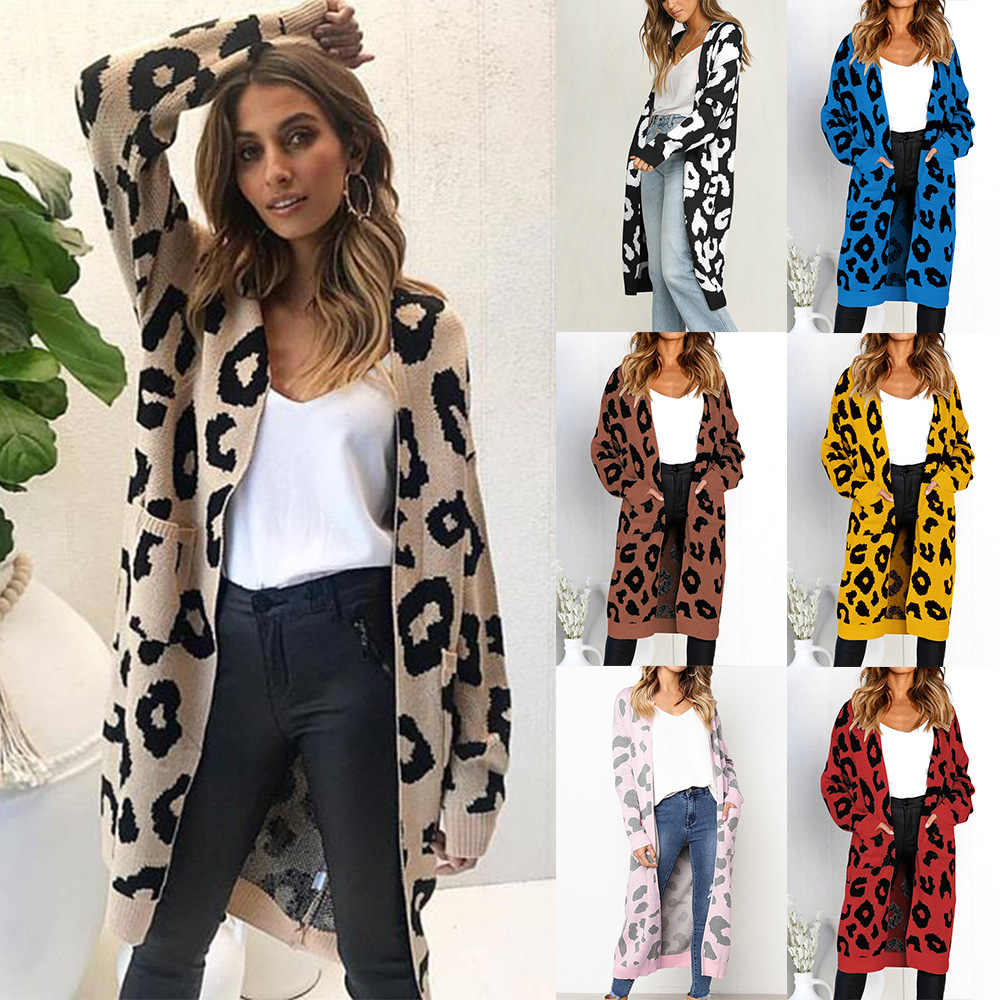f4df2e1bf8f1 Fashion streetwear geometric pattern printed long knitted cardigan yellow  red black Women v neck long sleeve