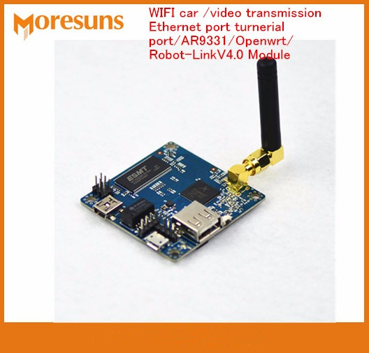 Fast Free Ship Robot Car WIFI car video transmission Ethernet port turnerial port AR9331 for Openwrt