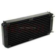 240mm Radiador de Agua De Refrigeración Refrigerador Para CPU de la Computadora de Aluminio LED del Disipador de Calor Nuevo de R179 Envío de La Gota