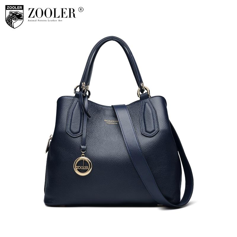 Hot Women leather bag trendy solid soft handbag New Genuine Leather Bag ZOOLER Tote bag shoulder bags sac a main femme #H128 цена