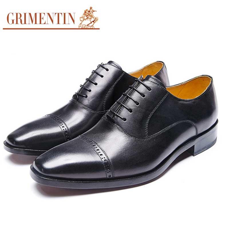 Personalizado Qualidade Sapatos De Dos Derby Goodyear Homens Negócios blue Black Grimentin brown Mens Couro Genuíno Formais Alta dtIxpA