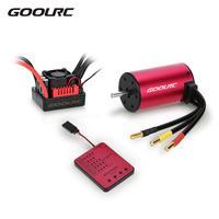 GoolRC S3650 4300KV Sensorless Brushless Motor 60A Brushless ESC & Program Card Combo Set for 1:10 RC Car Truck Vehicle Parts