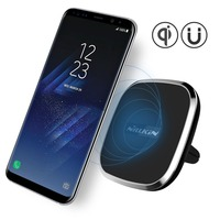 Car Accessories Universal Qi Wireless Charger Magnetic Mobile Phone Holder Stand USB Car Holder For Iphone