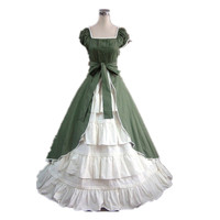 [La MaxPa] Medieval dress gothic lolita sweet women dress plus size custom made robe victorienne