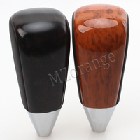 MZORANGE peach wood Leather Automatic Transmission Gear Shift Knob For Toyota LC200 Land Cruiser 2008 2011 2012 2013 2014 2015