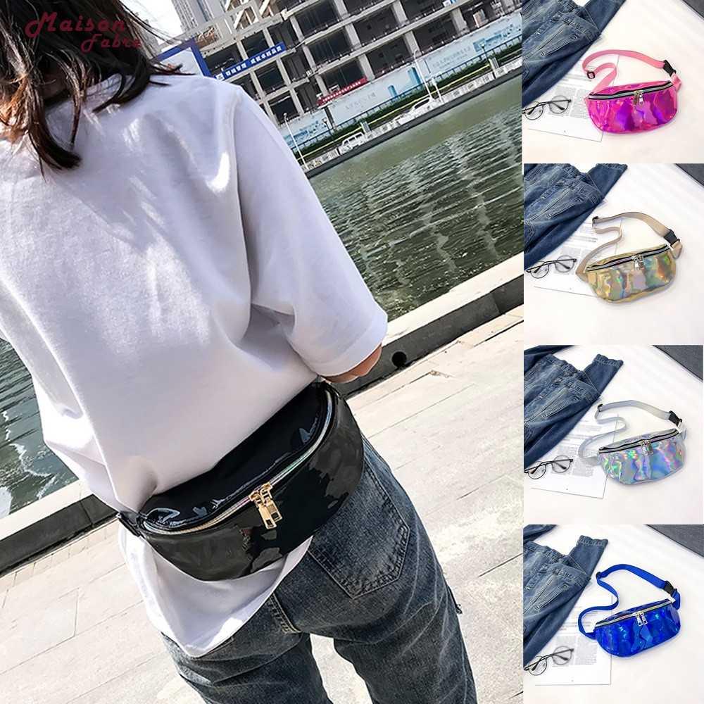 メゾン Fabre メッセンジャーバッグ女性のファッションレーザー革メッセンジャーショルダーバッグドロップシッピング 2019