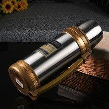 1000 ml/1200 ml/1500 ml Marke Big size Silber edelstahl Thermos Vakuum hochwertigen Japanischen reise termos flasche mein bootle