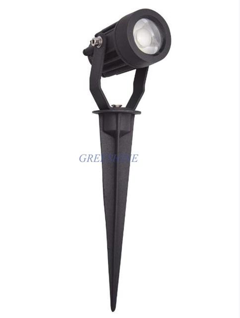 5W LED Outdoor Waterproof Garden Decoration LED Garden Spot Light Path Spike Lawn Lamp AC 110V 220V 12V 24V Landscape Spotlight