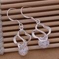 Korean Purple White Crystal CZ 925 Silver Drop Earings Fashion Vintage Geometric Wedding Long Dangle Earrings For Women EXMZ0017