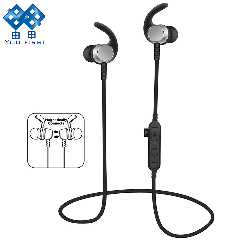 YOU FIRST TF Card Earphone Bluetooth Sport Neckband Headphone With Microphone Wireless Earphones Bluetooth Stereo For Phone you first wireless headphone bluetooth earphone sport stereo neckband bluetooth headset with micorphone kulaklik for phone