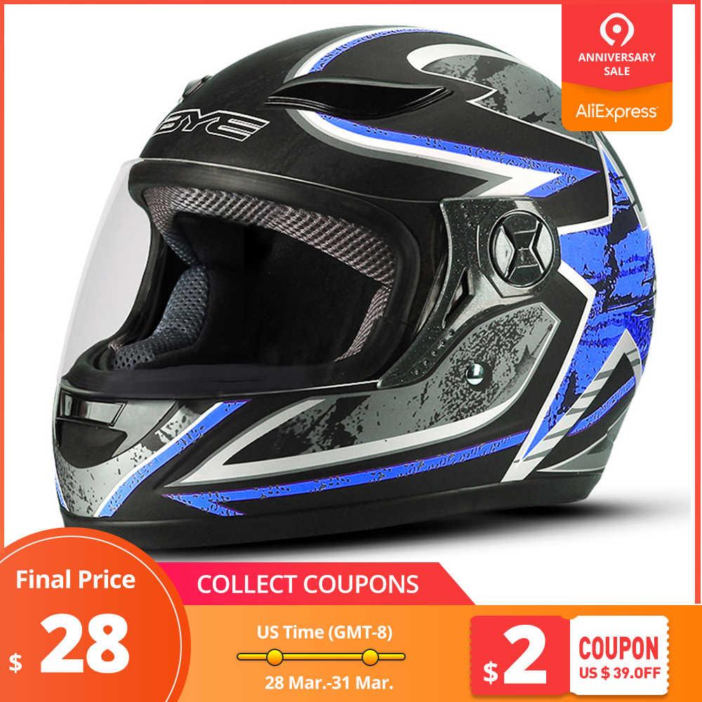 e1a3643c BYE Motorcycle Helmet Motocross Men Full Face Helmet Breathable ABS  Material Riding Motorbike Helmet Moto Helmet
