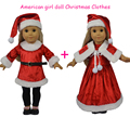 """18"""" American Girl Doll Clothes Christmas Dress with Leggings and Cap for 18 American Girl Dolls"""