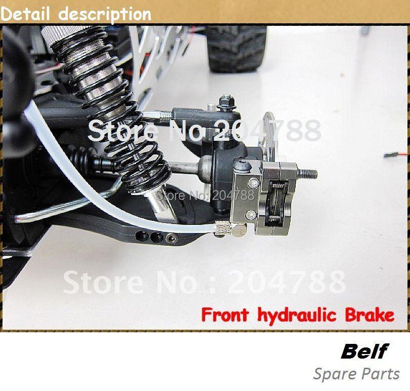 Четырехколесная гидравлическая Дисковая тормозная система для 1/5, 1/6 FG/ROVAN/FS/HSP/MCD автомобилей