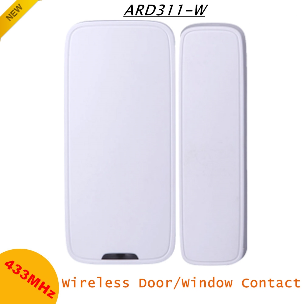Dahua Wireless Door Window Contact ABS Material 25-40mm Motion Distance 433MHz Notification LED Light Wireless Detectors Alarms