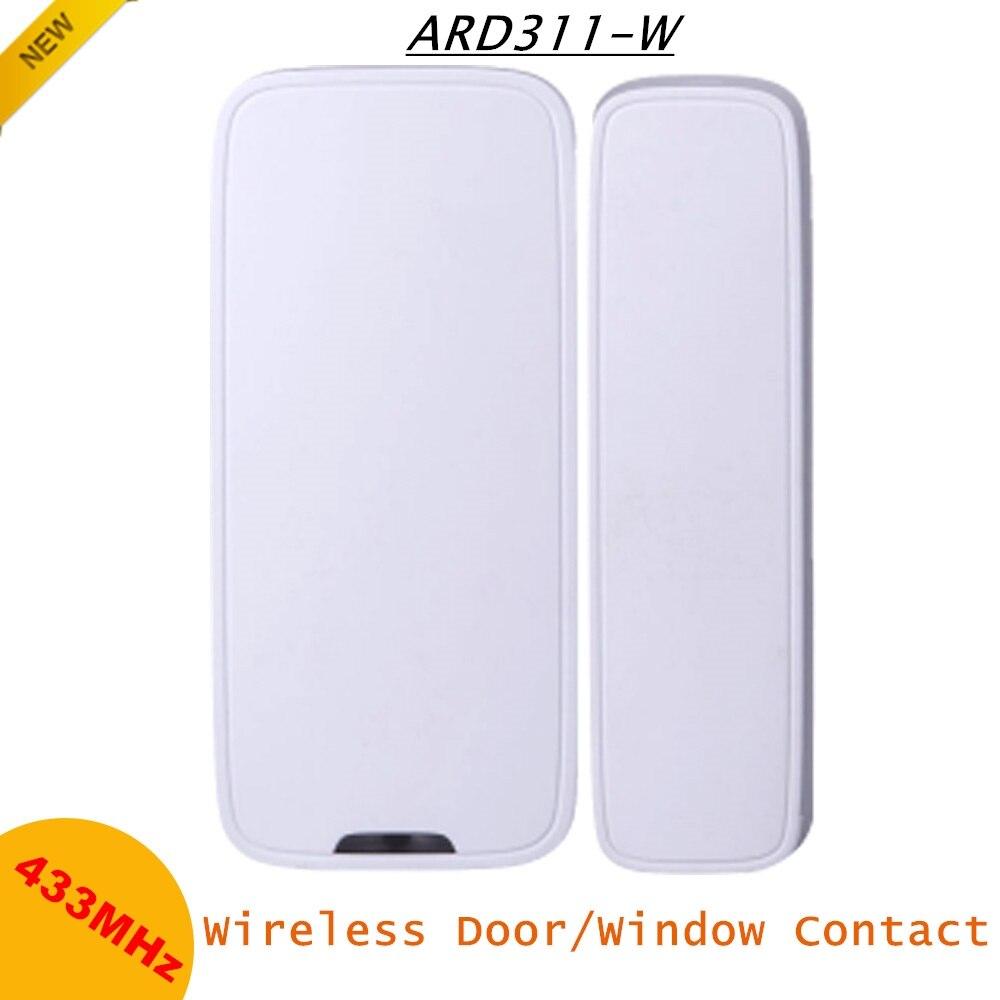 Dahua sans fil porte fenêtre Contact ABS matériel 25-40mm Distance de mouvement 433MHz Notification lumière LED détecteurs sans fil alarmes