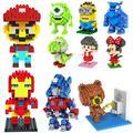 Blocks Diamond Building Blocks Action Figure The Avengers Minion Mario Spongebob Mickey yoda 3D Bricks Christmas Toy gift