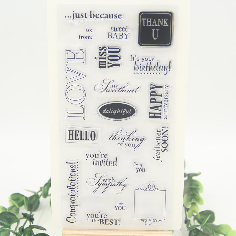 1 sheet DIY Words Candle Transparent Clear Rubber Stamp Seal Paper Craft Scrapbooking Decoration aspirations of girl diy transparent clear rubber stamp seal paper craft photo album diary scrapbooking paper card rm 244