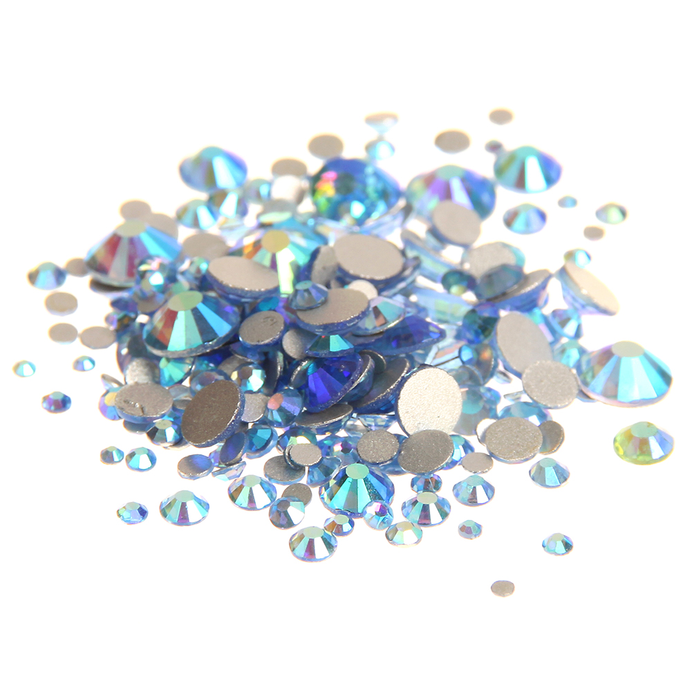 Glass Gems Crystal Rhinestones For Nails ss3-ss30 And Mixed Light Blue AB Strass 3D Nail Art Jewelry Nails Design Decoration glass gems crystal rhinestones for nails ss3 ss30 and mixed light rose ab strass nail art jewelry design glitter decoration