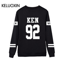 Men Black VIXX Letter Print Streetwear Capless Sweatshirt Hoodies Men Fleece KEN N RAVI HYUK HONGBIN Hoody Hip Hop Tracksuit(China)
