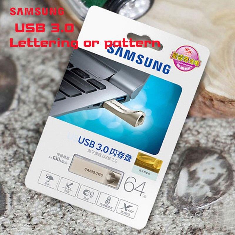 SAMSUNG USB Flash Drive USB 3.0 64GB pen drive Custom logo drive Tiny Pendrives flash usb Memory Stick for birthday gift 64gb