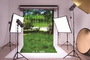 Image 3 - สีเขียวต้นไม้ทะเลสาบเรือแต่งงานเด็กไวนิลพื้นหลังสำหรับสตูดิโอถ่ายP Ropsเด็กฉากหลังสำหรับการถ่ายภาพ